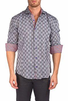 162472 - Black Button Up Long Sleeve Dress Shirt