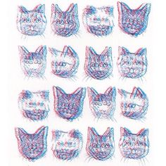 Trippy Cats by Pink Berry Patterns