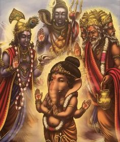 Guidance, from the Whispers Of Lord Ganesha, by Angela Heartfield, artwork by Ekaterina Golovanova Shiva Art, Ganesha Art, Shiva Shakti, Hindu Art, Kali Shiva, Baby Ganesha, Ganesh Idol, Shiva Hindu, Shri Ganesh Images