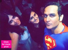 Rithvik Dhanjani Kamya Punjabi Sara Khan and others grace Vikas Guptas superhero themed birthday party  view pics!