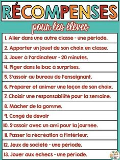 Primary Teaching Ideas and Resources Behavior Incentives, Classroom Rewards, How To Speak French, Learn French, Back To School Highschool, Classroom Management Techniques, Primary Teaching, Teaching Ideas, Education Today