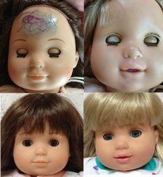Doll repair -  FIX nail polish and ink marks!!!