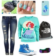 """Little Mermaid"" by nachognat on Polyvore"