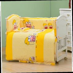 52.89$  Watch now - http://ali22x.worldwells.pw/go.php?t=32755344533 - 7Pcs baby crib bedding set kids bedding set newborn baby Bumper  Baby Cot Sets Bed Around Protector  crib bumper baby cot set