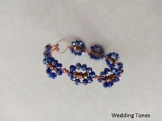Handmade bracelet with copper wire and blue and bronze crystals Crystal Bracelets, Crystal Necklace, Wedding Bracelet, Handmade Copper, Gold Hair, Copper Wire, Handmade Bracelets, Plating, Bronze