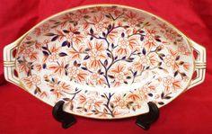 Antique Royal Crown Derby Imari Dish, Date Cypher 1882
