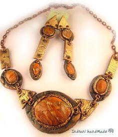 Indrani Handmade: Set de bijuterii handmade din pasta polimerica (fi...