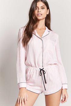 Striped Pajama Romper