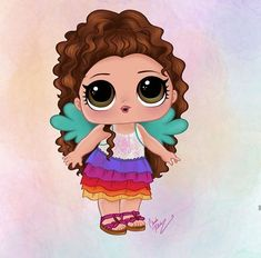 Doll Party, Cute Doodles, Lol Dolls, Scrapbook, Disney Characters, Drawings, Illustration, Prints, Anime