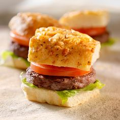 Mini Meatloaf Burgers
