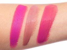 MAC Viva Glam Ariana Grande 2 Swatches | (L-R) Lipstick, Lipglass & Both layered