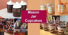 mason jar cupcakes DIY cake in a jar ideas