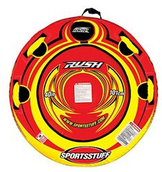 SPORTSSTUFF Rush Snow Sled: Feel the rush of the fastest air cushioned snow tube you can buy! The special Hard-Body molded bottom surface allows this tube to glide down the hill. Snow Sled, Outdoor Outfitters, Safety Valve, Look Good Feel Good, Wakeboarding, Tube, Surface, Color Red