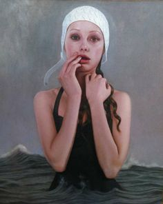 hauntingly beautiful modern portrait oil painting by Kris Lewis (from NJ, US) 2012-01 via TrendHunter.com 112450