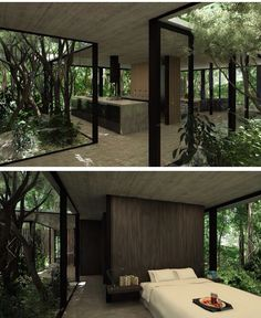 Prt two of modern tree house getaway - Popular Modern Tree House, Modern House Design, Home Interior Design, Exterior Design, Forest House, House Goals, Modern Architecture, Sustainable Architecture, My Dream Home