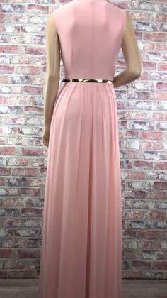 Ružové dlhé spoločenské šaty c8f9deb8815