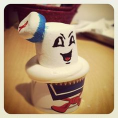 Awesome!  Stay Puft marshmallow man cupcake :).