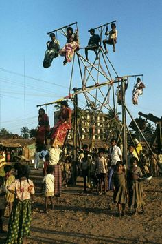 People are enjoying Nagor Dola ride. Dhaka (1981)