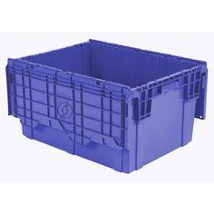 "21.8""L x 15.2""W x 12.9""H Blue Container | U.S. Plastic Corp."