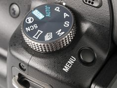Sony A55 Mode Dial Detail