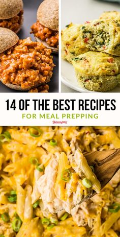 14 of the Best Recipes for Meal-PreppingPrepping your meals ahead of time will greatly improve your chances of success! These are some of the best recipes for meal-prepping! Clean Eating Meal Plan, Clean Eating Recipes, Diet Recipes, Healthy Eating, Cooking Recipes, Healthy Recipes, Healthy Lunches, Diet Meals, Pasta Recipes
