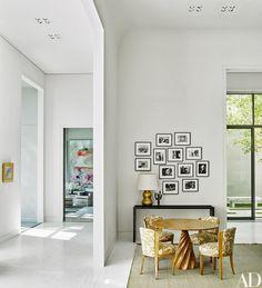 In The Salon Cindy Sherman Photographs Overlook A Vincent Corbire Pedestal Table And Vintage Dominique