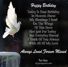 Happy Birthday Mom in Heaven | .com/all-greatquotes/happy-birthday-today-is-your-birthday-in-heaven ...
