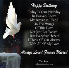 Sayings About Birthdays in Heaven | Happy-Birthday-..-Today-Is-Your-Birthday-In-Heaven-Above.-My-Blessings ...
