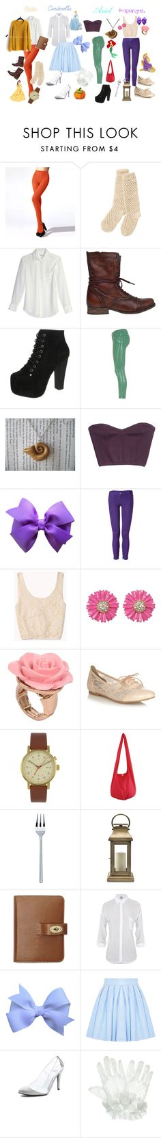 """""""Modern Disney Princess Outfits"""" by kari-the-little-mermaid ❤ liked on Polyvore featuring Moonbasa, People Tree, Equipment, Steve Madden, Disney, Jeffrey Campbell, 75 Faubourg, GUESS by Marciano, Faith Connexion and Forever 21"""