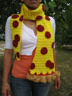 Awesome Pizza scarf