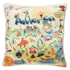 America Satin Pillow