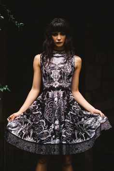 Til Death Do Us Part Longline Princess Dress - 7 Day Unlimited - Order of the Secret Skulls (COMING SOON) - Collections
