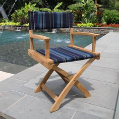 Bring casual comfort to your outdoor living space. Country Casual Teak offers Outdoor Teak Dining Chairs in a variety of styles. Outdoor Dining Chairs, Outdoor Lounge, Outdoor Living, Outdoor Decor, Teak Outdoor Furniture, Furniture Ideas, Al Fresco Dining, Outdoor Fabric, Folding Chair
