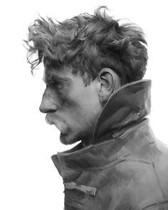 Character Inspiration, Character Art, Character Design, Character Portraits, Monochromatic Art, Illustration Art, Illustrations, Model Face, Cg Art