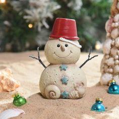 Sand Bucket Snowman Statue
