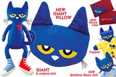 Pete the Cat dolls and puppets from MerryMakers, from the books by Eric Litwin
