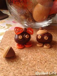 Quilled Life: Kasztany i żołędzie #quilling #handmade  #handcraft #decoration #autumn #chestnut