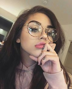 glasses, maggie lindemann, and makeup image
