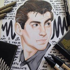 dezei/2016/09/11 21:14:53/Alex turner 'cause why not❤️ #alexturner#arcticmonkeys#turner#art#artist#drawing#draw#promarker#pencils#lineart#doiwannaknow#portraits#realisticart