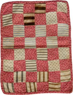 OnlineQuilter presents - Double Pink One Patch doll quilt