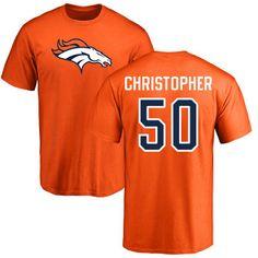 9f7653b5c Men s Denver Broncos NFL Pro Line Orange Any Name   Number Logo Personalized  T-Shirt