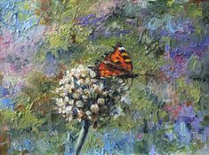 Summer time. Oil - buy or order in an online shop on Livemaster - EUN5HCOM. Moscow | A small painting with a summer story: butterfly…