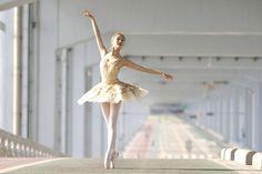 Ballet in a parking garage