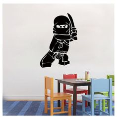 Lego muur sticker Ninjago Lego Decal - Vinyl muur Decal Sticker voor jongen kamer stickers