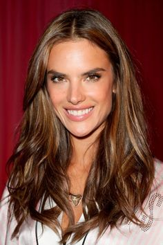 Alessandra Ambrosio with glossy brown curls - Hair Colour: Autumn/Winter 2013 | InStyle UK