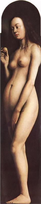 VAN EYCK Jan van Eyck: Flemish painter (Maaseik? ca. 1390 - Brugge 1441) - Eve from the Ghent Altarpiece, c. 1425 - 1429