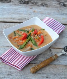 Thaisuppe med red curry