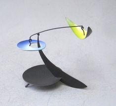 """""""Cool and Calm"""" by Mark Davis. 5"""" X 8"""". Brass and Aluminum With Steel Wires, Oil and Acrylic Colors. Available at maine-art.com"""