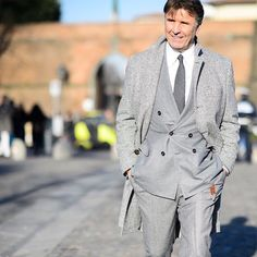 Mr @brunellocucinelli the Gentleman of Pitti!!     Walk with Style in Pitti !!     Photo by @le21eme
