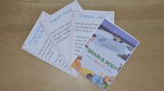 24 Free Brain and Body Break Cards vital to improving student performance and behaviour
